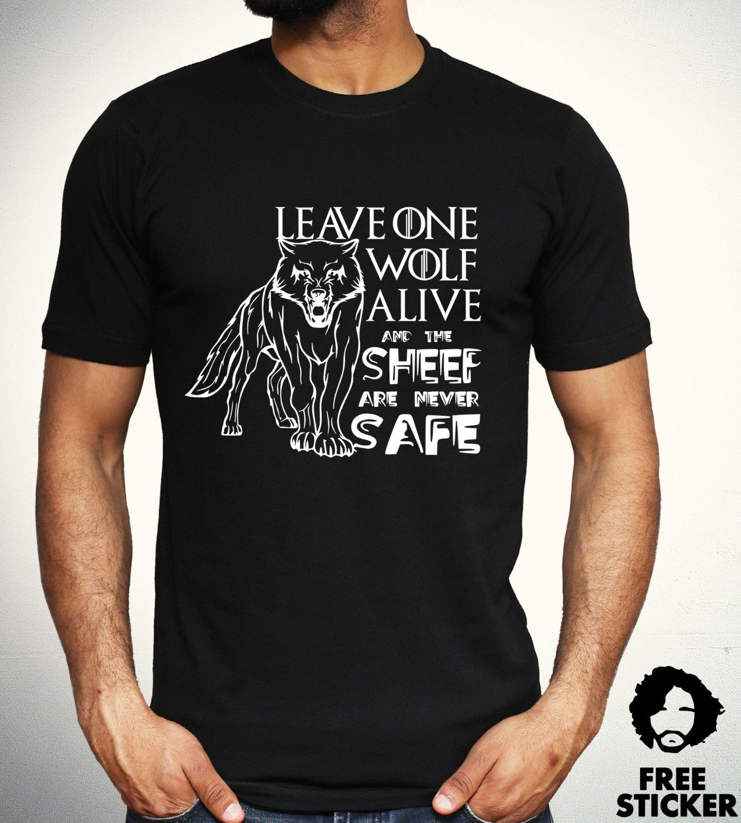 aed460317 Game Of Thrones Lone Wolf T Shirt House Stark Jon Snow TV Series Gift Top  Mens Summer Hot Sale ,New Tee Print ,Men T Shirt Top , Cool T Shirts  Designs Make ...