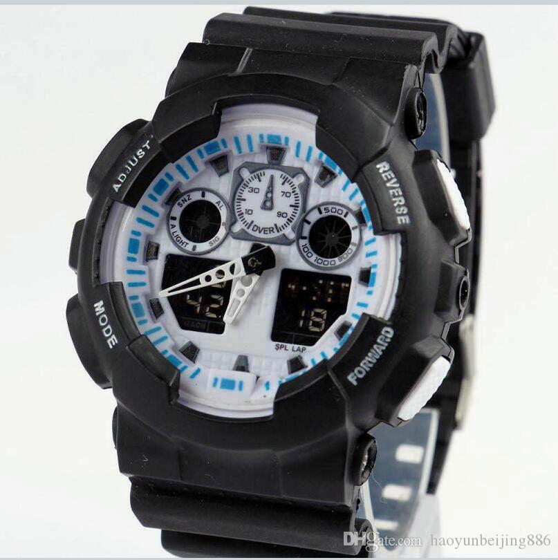 8225bb2d902a Новые мужчины работает военные часы Наручные часы ga100 светодиодные  кварцевые ...