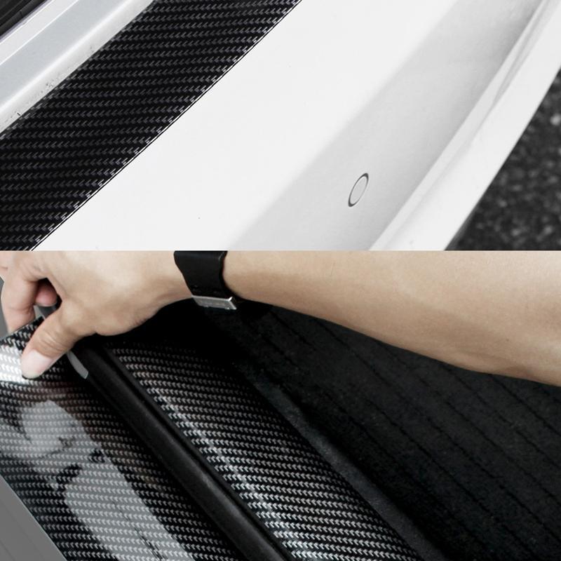 1M Araba Şekillendirme Yumuşak Kauçuk Araç Tampon Şeridi 30mm / 50mm Genişlik Otomobil Dış Ön Tampon Lip Protector Sticker Şerit Seti