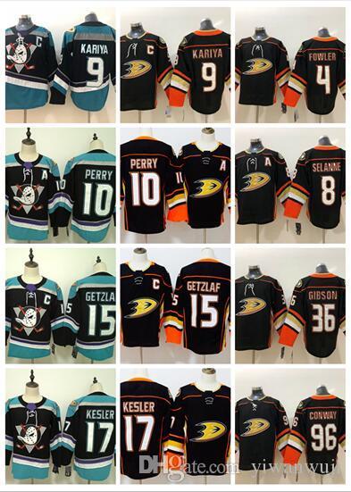 5b8e99710 Compre 2019 2020 Adlads Cosidos Anaheim Ducks Blank   8 SELANNE   9 KARIYA    10 PERRY   15 GETZLAF   17 KESLER Negro Naranja Hockey Jerseys Hielo A   37.2 ...