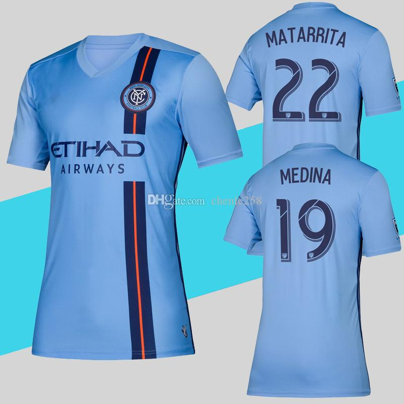 c83f14974 MLS 2019 New York City Soccer Jersey Home Blue Football Shirt Ring  Matarrita Top Quality Jerseys More Free DHL Shipping UK 2019 From  Chenle258