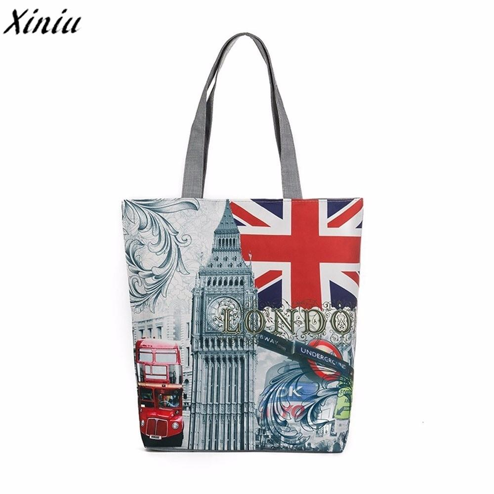 49acf38d9033 Designer London Big Ben Fashion Ladies Canvas Tote Casual Beach Bags Women Shopping  Bag Handbags For Women Messenger Bags High Quality Hobo Purses Leather ...
