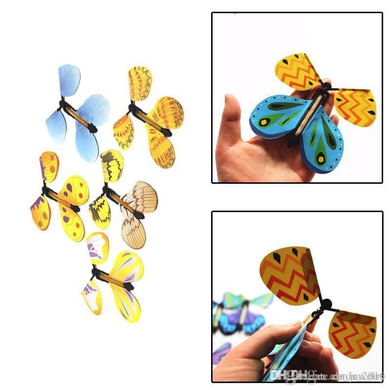 Creative Magic Butterfly Flying Butterfly Change With Empty Hands Freedom Butterfly Magic Props Magic Tricks free shipping