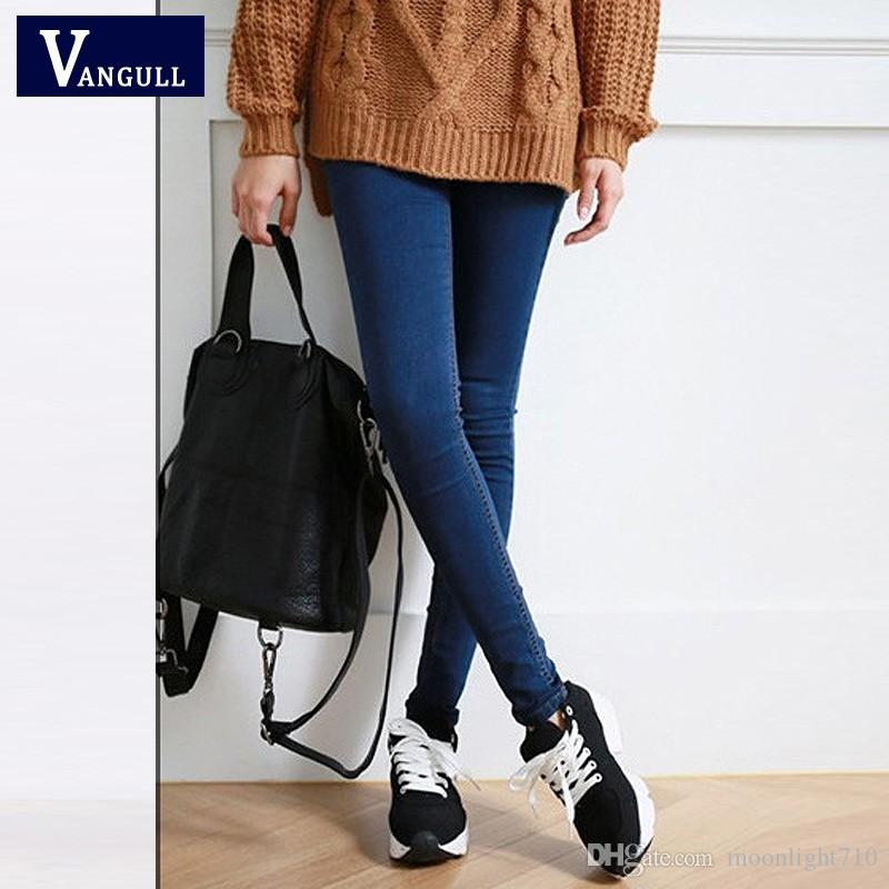 dd3ff37373 2019 Autumn New Style Women S Clothing High Quality Women Fashion Slim Jeans  Female Washed Casual Skinny Stretch Pencil Denim Pants From Moonlight710