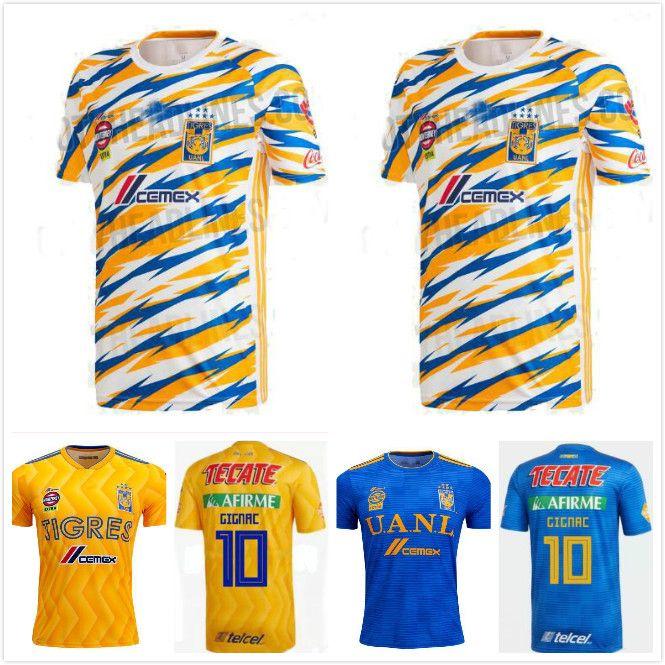 759b6cde565 2019 1 2018 2019 UANL TIGRES New Third DE LA Soccer JERSEYS 18/19 Mexico  Club LIGA MX Maillot De Foot Home Yellow 6 Star GIGNAC Football Shirts From  ...