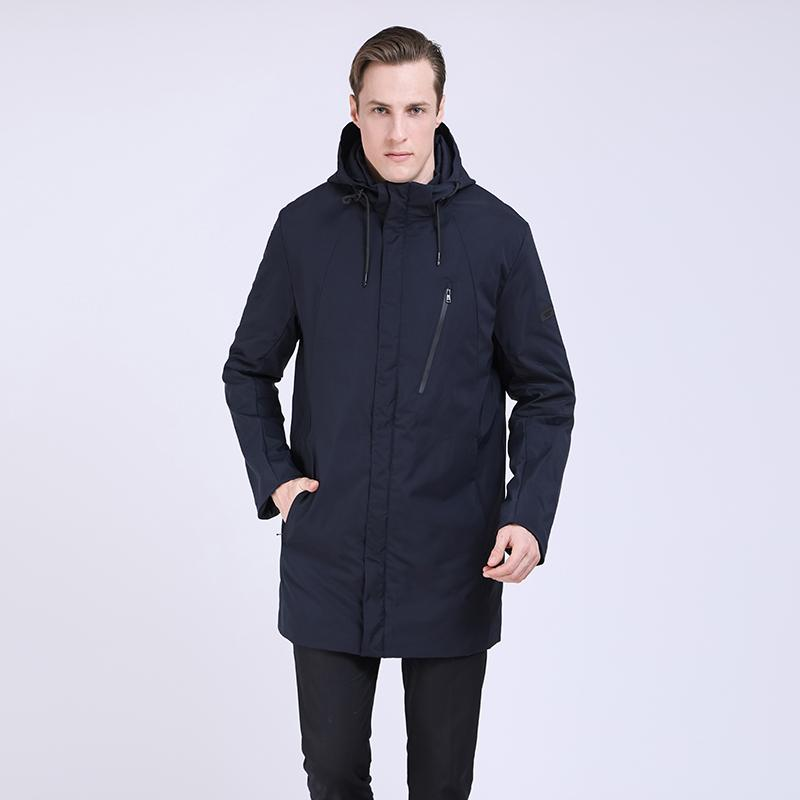 2019 Hombres Trench Coat Spring Long Jacket Windbreaker Casual acolchado abrigo Trench Homme Hombre largo Parka hombres Outwear