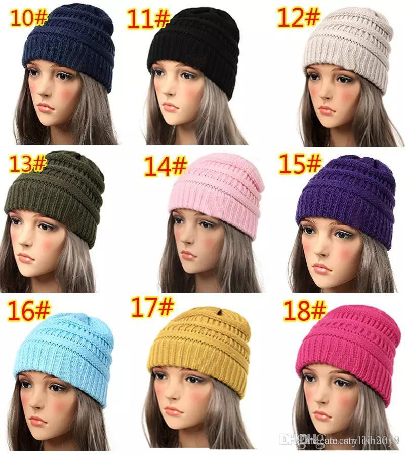 3958c38e2aaf66 New Beanie Women Cap Hat Skully Trendy Warm Chunky Soft Stretch Cable Knit  Slouchy Beanie Winter Hats Ski Cap Online with $3.28/Piece on Jewelry_wlr's  Store ...