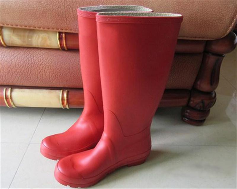 2019 2018 Winter Rain Boots Women Fetish High Tall Boots Women Knee High Waterproof Water Shoes Size 36 42 Rain Boots Outdoor Snow Boot From Clahui
