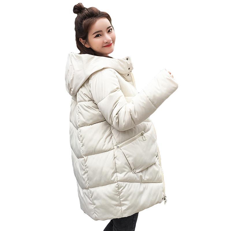 f9a08d12b278 Thick Warm Hooded Long Down Parkas Women Down Jacket Winter Coat ...