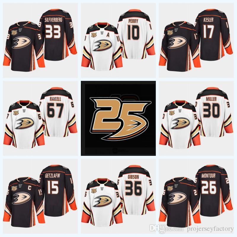 innovative design de549 23f16 Paul Kariya Anaheim Ducks 25th Anniversary 17 Ryan Kesler 10 Corey Perry 15  Ryan Getzlaf 36 John Gibson 8 Selanne 4 Fowler Jersey
