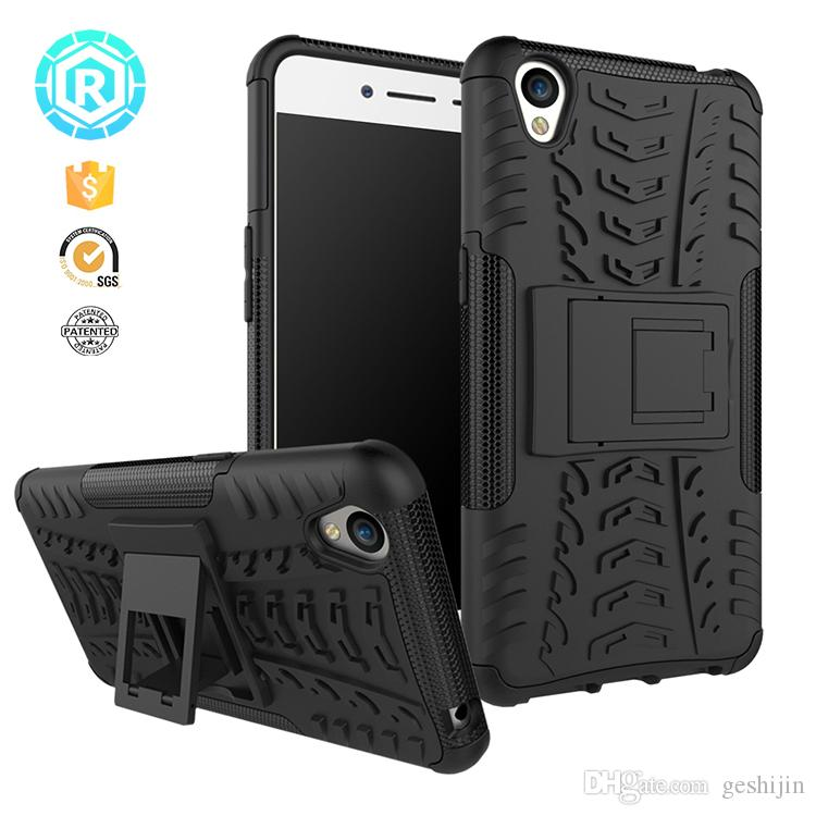For oppo A37 [Kickstand Shock Absorption] Dazzle Bracket Dual Layer  Defender Protective Case Cover for oppo A37