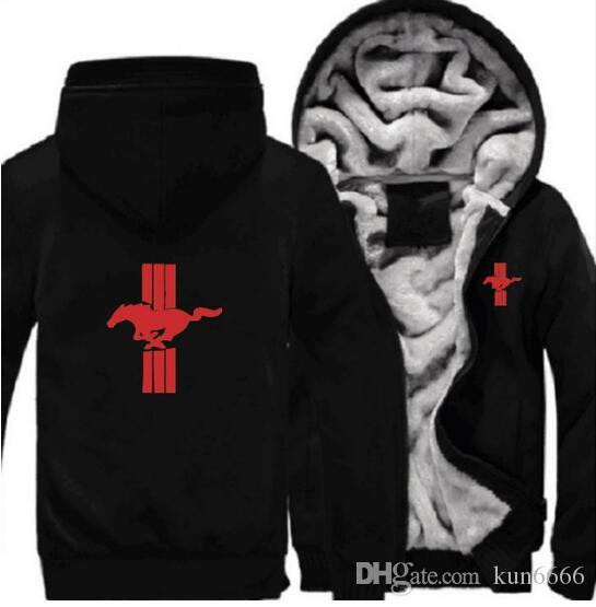 5e471b4e8ac2c Ford Mustang Hoodie Winter Jacket Thicken Fleece Cashmere Hoodie ...