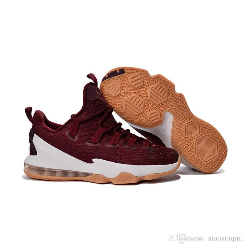 sports shoes 8867d 2ed3d Lebron 13 low mens basketball shoes for sale MVP Christmas BHM Easter  Halloween Akronite DB youth kids sneakers boots with Size 7 12