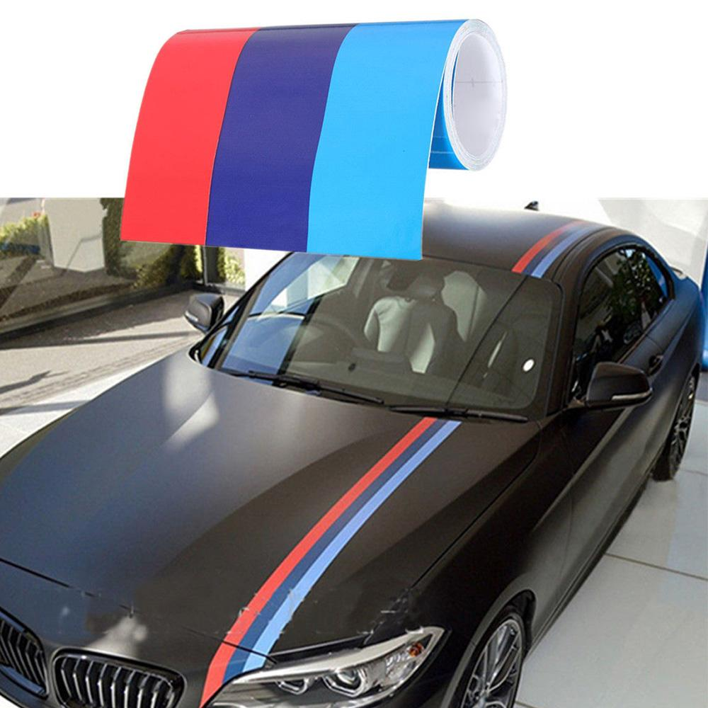 2019 5m15cm car sticker brand new pvc material tricolor waterproof hood roof stickers suitable for bmw m3 5 3 5 series from zhongfucar 18 16 dhgate com