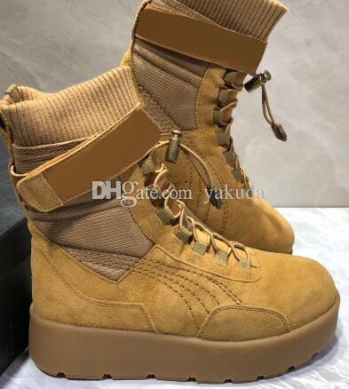 competitive price 67dff dbae0 Nr. 1 guter Preis 2019 Damen Damen Laufschuhe, Rihanna x FENTY Sneaker Boot  Schuhe, FENTY BEAUTY DURCH RIHANNA, hohe, wärmende Laufschuhe