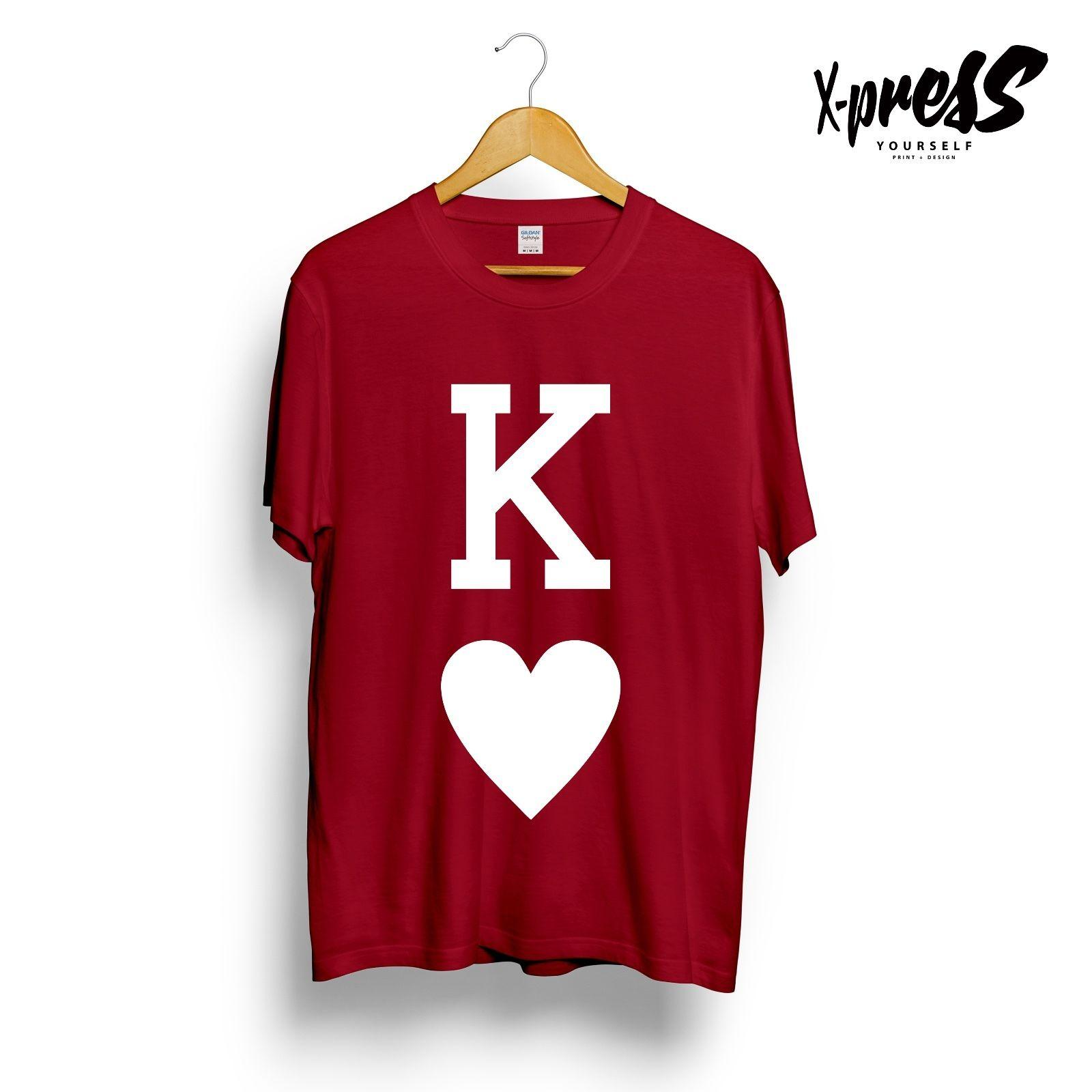 c673a4a0426f KING OF HEARTS PRINTED GRAPHIC MENS T SHIRT UNIQUE COOL ICON DESIGN UNISEX  GIRLS 2018 New Tee Print, Men T Shirt Tops,Hip Hop Short T Shirt Quirky T  Shirt ...