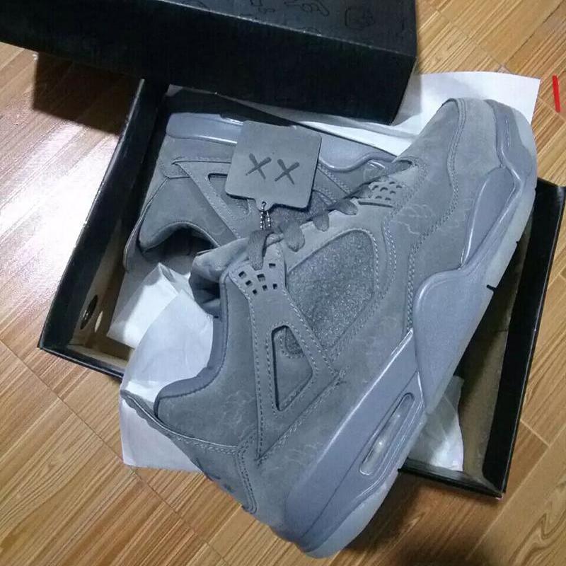 24d079ec496726 2019 KAWS X 4 XX Kaws Cool Grey White Black Glow Basketball Shoes Mens Best  Quality White Blue Black Sports Sneakers From Penshoes001