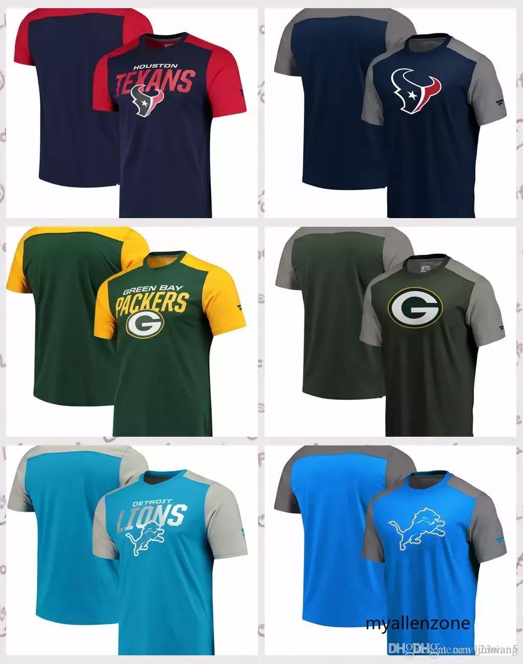 70f5a5c9a Compre Houston Texans Detroit Lions Green Bay Packers Pro Line De Fanatics  Camiseta Icónica De Colores Con Bloques A  37.95 Del Jinnian5
