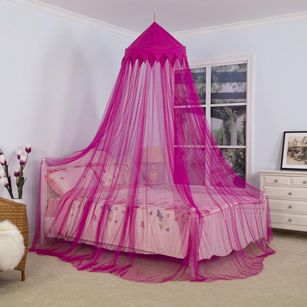 Crib Netting Kids Room Bedding Romantic Round Bed Mosquito Net Bed Cover Hung Dome Bed Canopy For Kids Bedroom Nursery