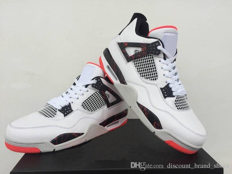 9598d938d04c New 4 4s Pale Citron Mens Basketball Shoes Footwear 308497-116 IV Cushion  White Black Light Crimson Designer Trainers Sneakers 40-47 4s Basketball  Shoes ...