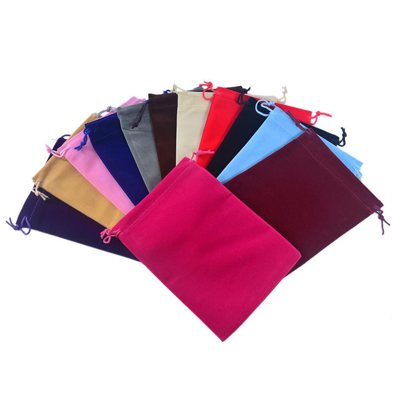 13x18cm Velvet Bags For Jewellery Pouches Toys Cosmetic Clothes Packaging Wedding Things Party Bead Container Storage