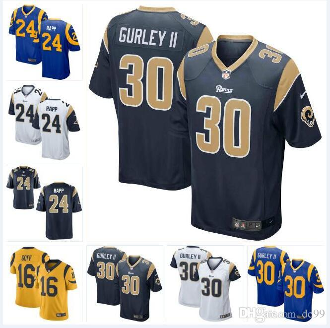 cf1b7d9d86d 2019 #24 Taylor Rapp Rams Jersey Todd Gurley II Bobby Evans Greg Gaines  David Edwards Nick Scott Custom American Football Jerseys New Color Rush  From Fr666, ...