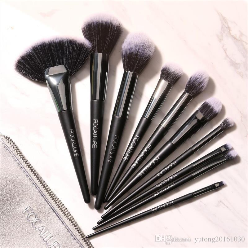 15987d7b1a41 Stock Clearance!!! 10Pcs Makeup Brushes Professional Cosmetic Make Up Brush  Set The Best Quality Maquiagem Professional Completa