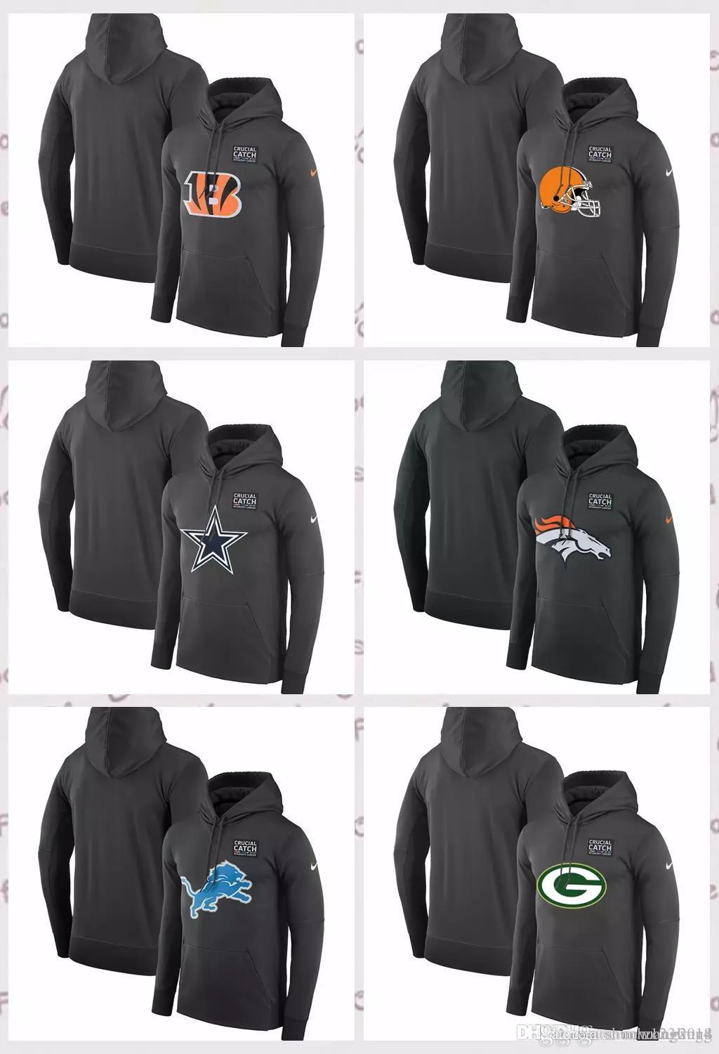 2019 Cincinnati Bengals Cleveland Browns Green Bay Packers Detroit Lions  Denver Broncos Dallas Cowboys Crucial Catch Performance Hoodie From  Shunhuang2018 45af20b34