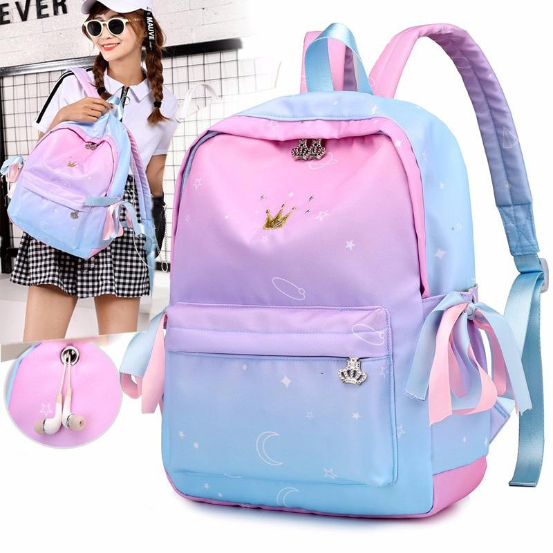 Orthopedic Backpacks Children Schoolbags For Girls Primary Book Bag School Bags Printing Backpack Sac Ecolier Pink J190614