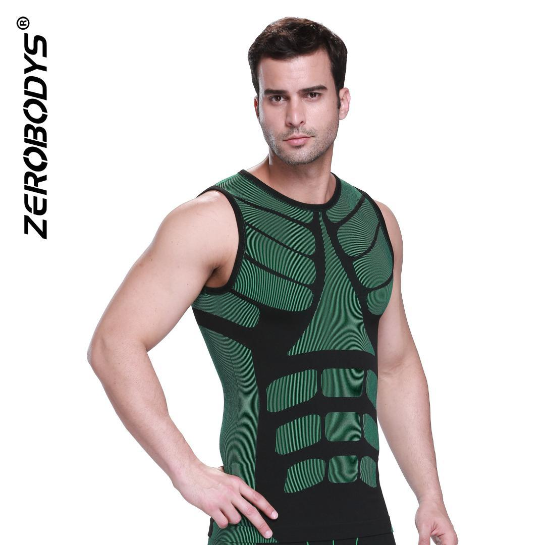 32b6d04b57cb7 Men Body Shaping Vest Slimming Chest Belly Abdomen Tummy Shirt ...