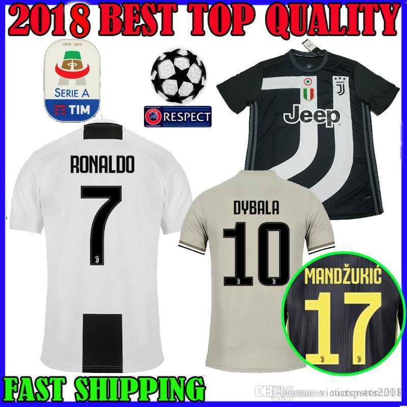 27d7d485b RONALDO Juventus Soccer Jersey 18 19 Home AWAY Third DYBALA 2018 ...