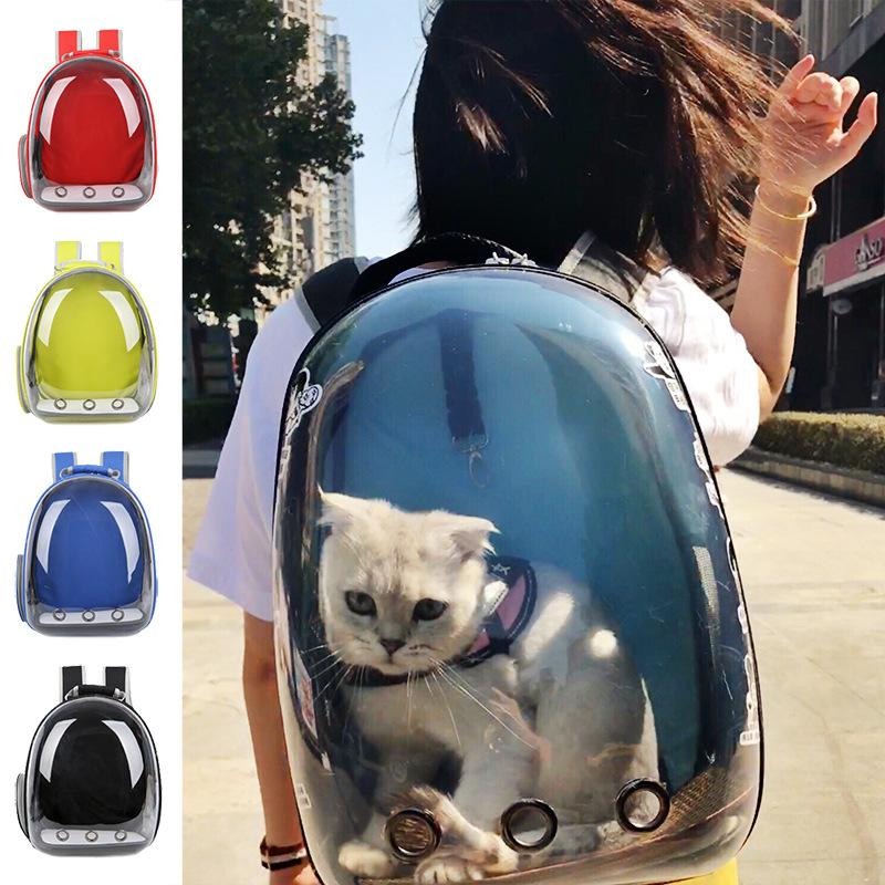 Gato de transporte de mochila Pet Cat Backpack para Kitty filhote de cachorro cão pequeno portador Crate Outdoor Travel Bag Caverna de gato