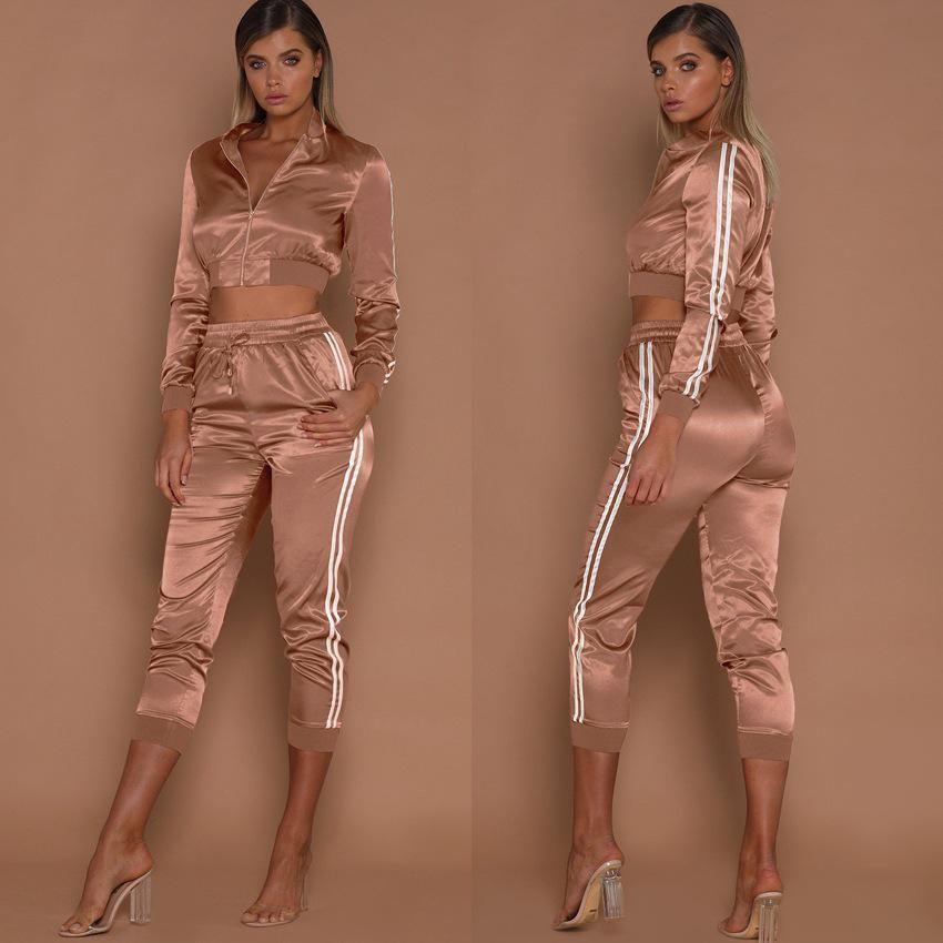 Set di Pantaloni Maglione Girocollo con Stampa da Donna Pantaloni da Donna per Abbigliamento Sportivo Casual Set Pantaloni