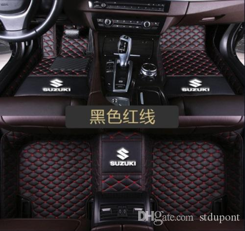 For Suzuki Swift 2005-2012 Car Floor Mats Front & Rear Liner Accessories  Non-slip waterproof leather Carpets Auto Luxury Pads LOGO