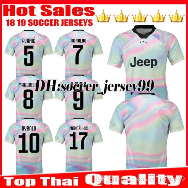 superior quality 7dd3e 52636 2018 2019 EA Sports digital INSANE Soccer jersey DYBALA RONALDO HIGUAIN 18  19 CUADRADO PJANIC MARCHISIO CHIELLINI jerseys Football shirts