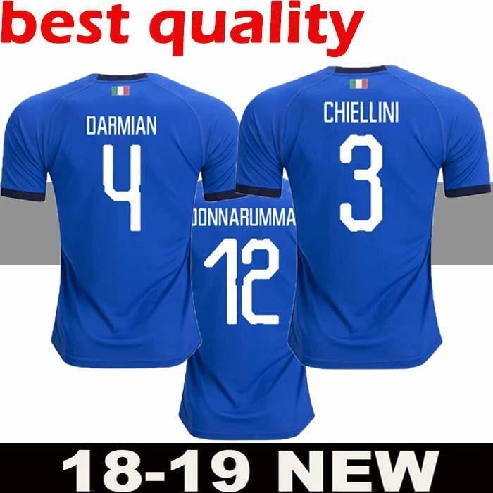 2018 2019 Camisetas De Fútbol De Italia EL SHAARAWY PIRLO BONUCCI DE ROSSI  INSIGNE VERRATTI CHIELLINI Camiseta De Fútbol De Local Lejos Camisetas  Camisetas ... c6db3c158630a