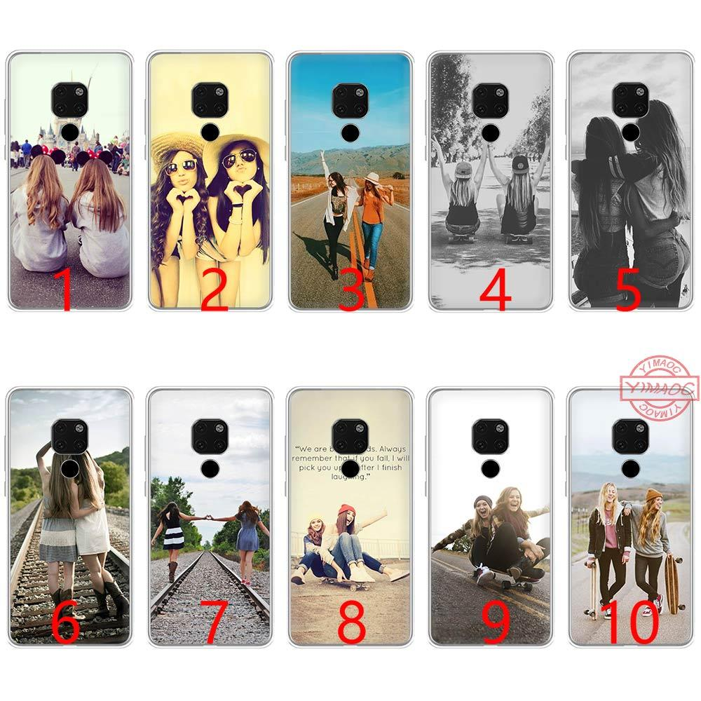 timeless design 750f5 14f95 Happy Best Friend Card Bff Soft Silicone TPU Phone Case for Huawei Mate 20  10 Pro Nova 2i 3 3i 4 Lite