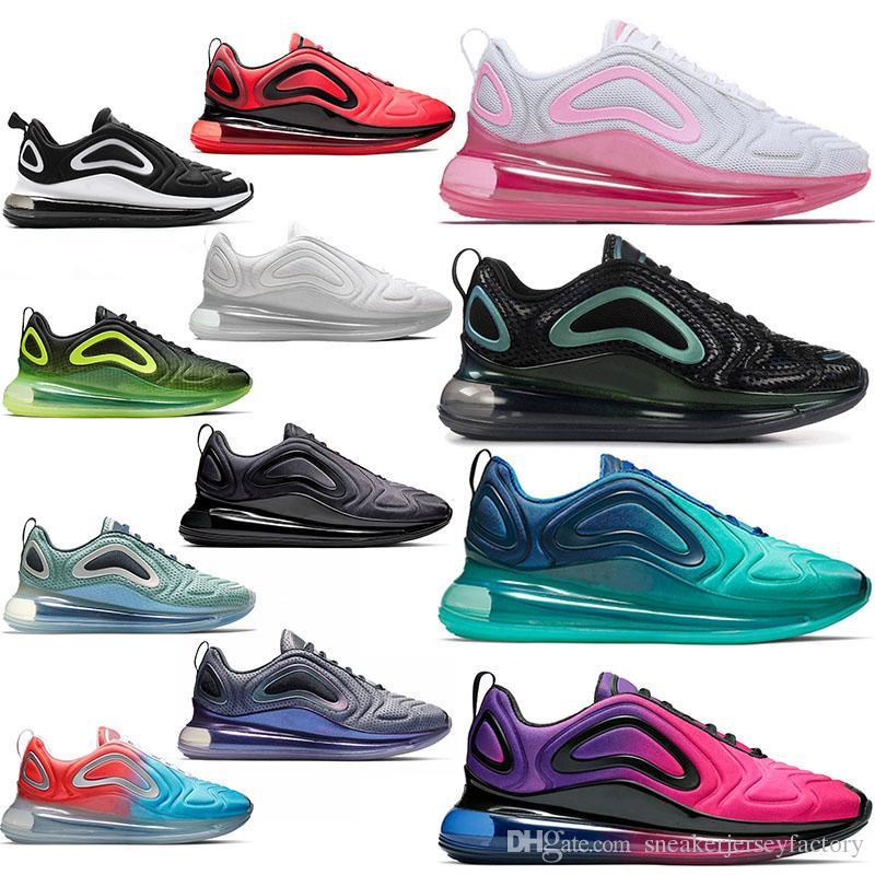 011adea1b Nike Air Max 720 Airmax 720s Maxes Zapatillas Free Run Cojín Para Correr  Zapato Triple S Blanco Negro Moda Hombre Zapatillas Deportivas Diseñador De  Marca ...