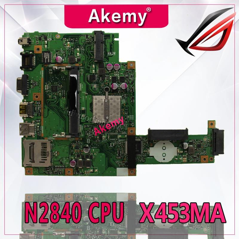 Akemy For ASUS X453MA X403M F453M Laptop motherboard X453MA N2840 CPU  Mainboard test good