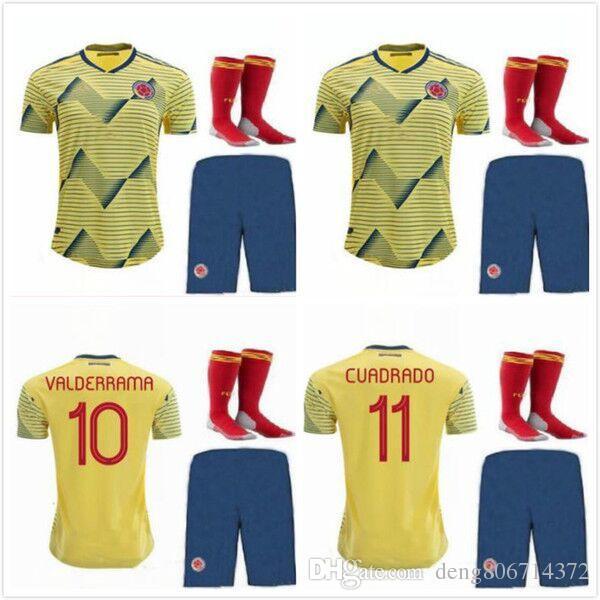 073755d0 2019 Camisetas De Fútbol De Colombia VALDERRAMA 19 20 Camiseta De Fútbol  JAMES CUADRADO Colombia Kit Para Mujer Y Adulto, Para Hombre MATEUS Copa  America ...
