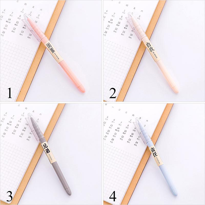 4Pcs Cute Candy Color Gel Pen 0.5mm Novetly Pens Black Neutral Pen For Kids Girls Gift Writing School Supplies Office Stationery