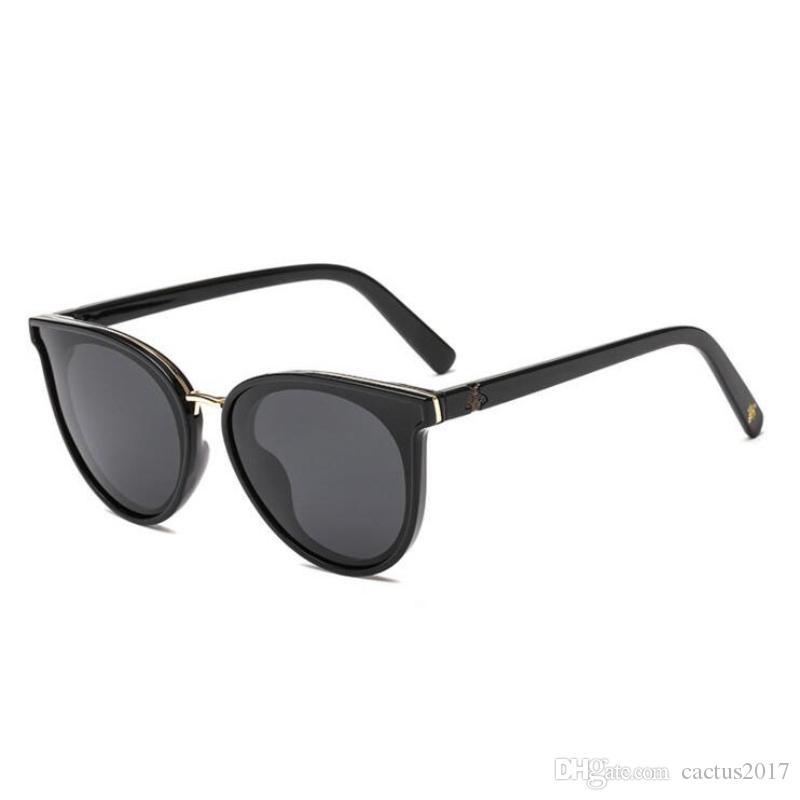12f6b173d Trendy Little Bee Sunglasses Women Luxury Cat Eye Brand Designer Mirror Sun  Glasses Female Oculos De Sol Gafas Sunglasses Sale Kids Sunglasses From ...