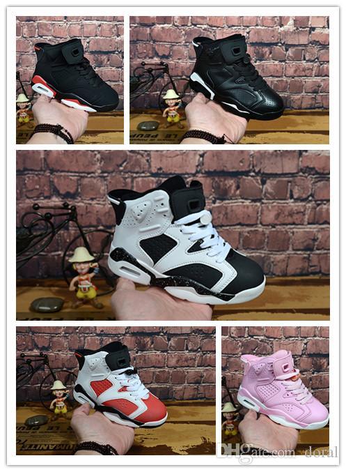 timeless design 65070 15c84 Großhandel Nike Air Jordan Aj6 Heißer Verkauf 2019 Neue Kinder Basketball  Schuhe Jungen Mädchen 6 6s Turnschuhe Jugend Kinder Sport Basketball  Turnschuhe ...