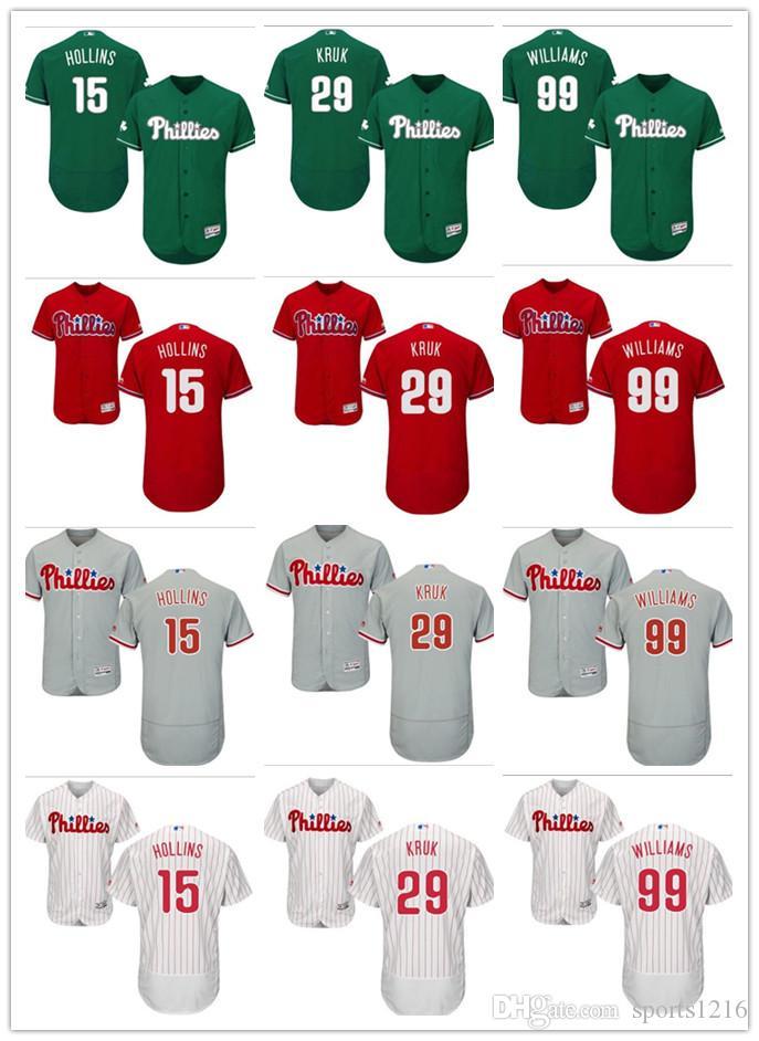 2018 Custom Men S Women Youth Philadelphia Phillies Jersey  99 Mitch  Williams 29 John Kruk 15 Dave Hollins Red Grey Baseball Jerseys From  Sports1216 a416423d760