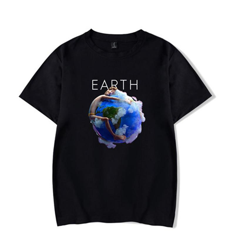 Earth Mens Summer Tshirts Crew Neck Lils New Songs Print Fashion Male Clothing Wild Causel Tees
