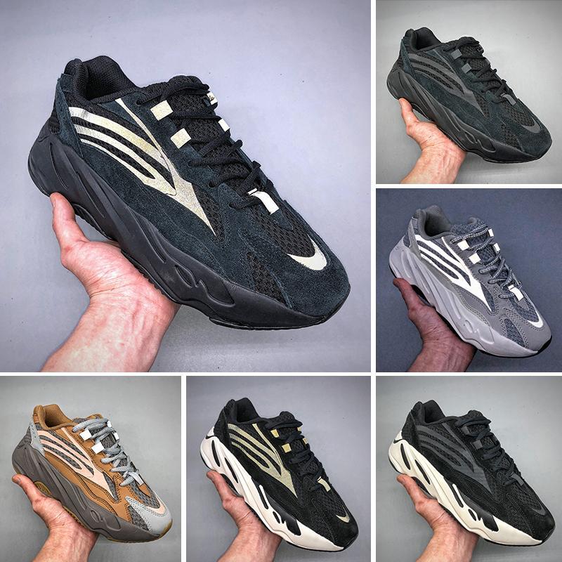 sale retailer 7a247 735a6 Adidas Yeezy 700 2019T 2019 Static 700 Wave Runner Malva Inercia Hombres  Mujeres Kanye West 700 V2 Diseñador de calidad superior zapatos zapatillas  ...