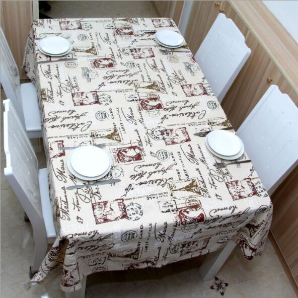 Rectangle table cloth in washable polyester great for buffet table parties holiday dinner wedding table cover elegant creative 90*140cm