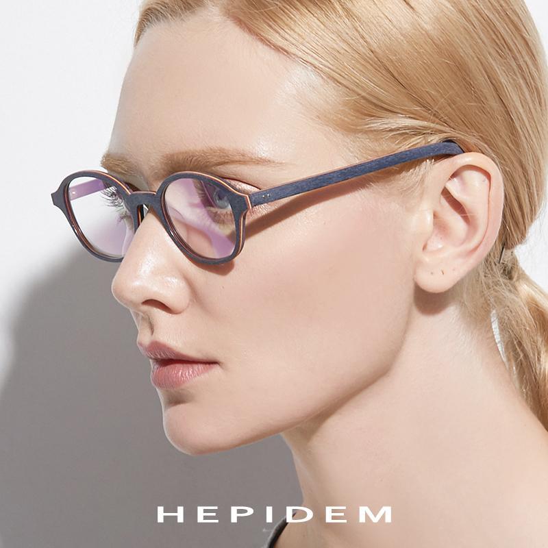 565cca4ab1f0 2019 Acetate Glasses Frame Men Round Prescription Spectacles Eyewear 2018  Women Nerd Myopia Optical Frames Wood Grain Eyeglasses 9102 From  Ericgordon