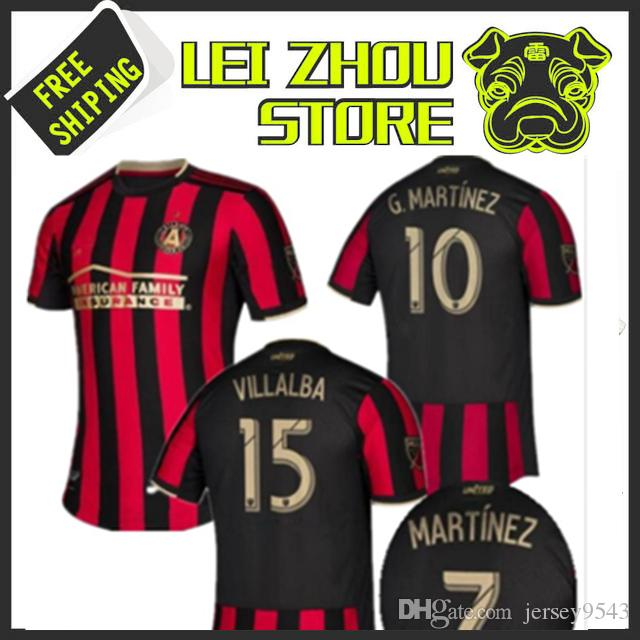 separation shoes d8426 6e065 MLS 2019 2020 Atlanta United Soccer Jersey Home Stripes VILLALBA MARTINEZ  BARCO FC 19 20 Top Quality Football Shirt More 10pcs Free DHL