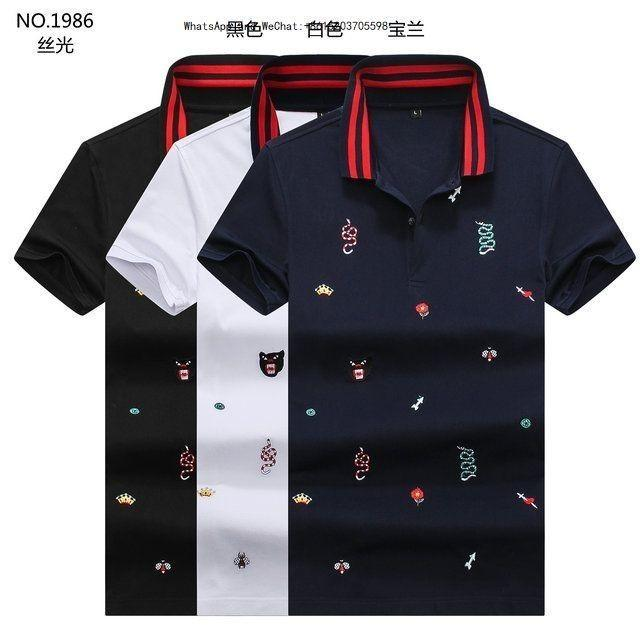 Europe New Modle Leisure Authentic Light Cotton Short Sleeve Wind Lapel Man POLO Blouses T-shirt Slim Suit